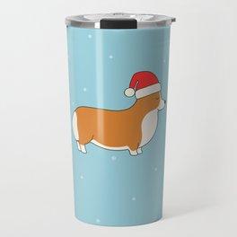 Santa Corgi Travel Mug