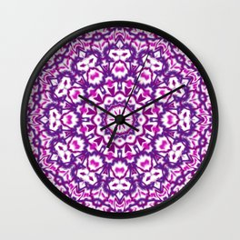 Pink and Purple Mandala Wall Clock