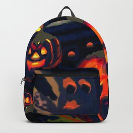 Spooky Night of Ghost and Jackolanterns by Lorloves Design Backpack