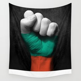 Bulgarian Flag on a Raised Clenched Fist Wall Tapestry