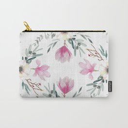 Floral Square Carry-All Pouch