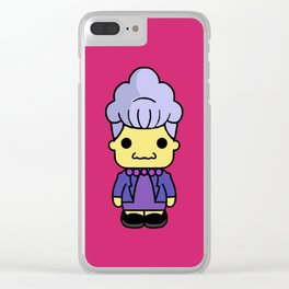 Agnes Skinner style pin y pon Clear iPhone Case