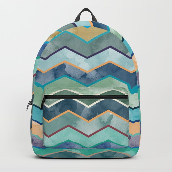 Watercolor Colorful Wave Backpack