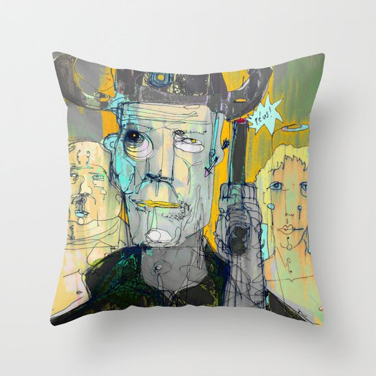 The Good, The Bald & The Ugly Throw Pillow