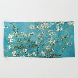 Almond Blossoms by Vincent van Gogh Beach Towel