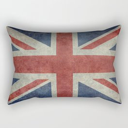 UK Flag, Dark grunge 1:2 scale Rectangular Pillow