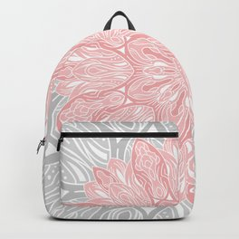 MANDALA IN GREY AND PINK Backpack