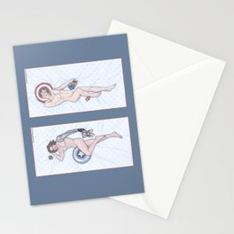 Steve and Bucky Heroic Nude Pinups Stationery Cards