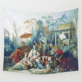 Le Jardin Chinois by François Boucher Wall Tapestry