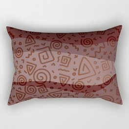 ETHNO PATTERN Modern | red Rectangular Pillow