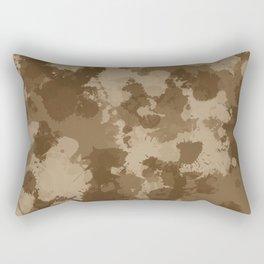 Desert Camo Paint Splatter Rectangular Pillow