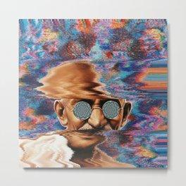Psychedelic Gandhi Metal Print