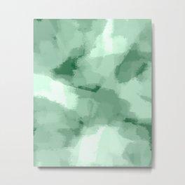 Saige - Green abstract art Metal Print