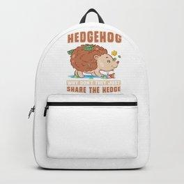 Hedgehog Share The Hedge Backpack
