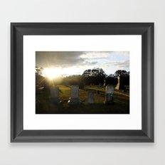 When It Rains Framed Art Print