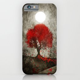 Red autumn. iPhone Case