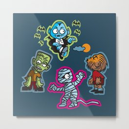 Horrid Little Monsters Metal Print