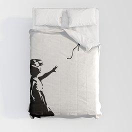 Girl With Red Balloon, Banksy, Streetart Street Art, Grafitti, Artwork, Design For Men, Women, Kids Comforters