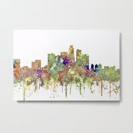 Los Angeles Skyline - Faded Glory Metal Print