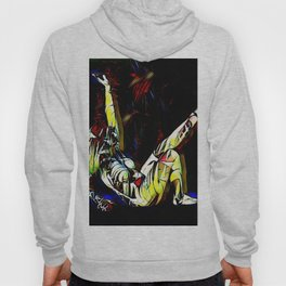 2295s-MS Colorful Female Figure Abstract Art Nude Colors Hoody