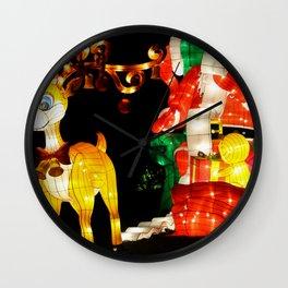 santa and rudolf Wall Clock