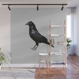 Poly Crow Wall Mural