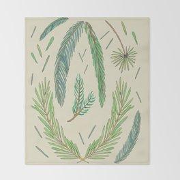 Pine Bough Study Throw Blanket