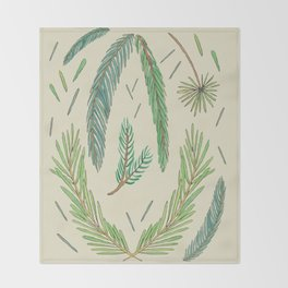 Pine Bough Study Throw Blanket