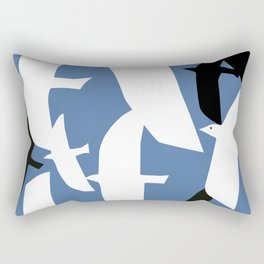 night flight Rectangular Pillow