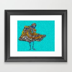 RAIN DANCE by CD KIRVEN Framed Art Print