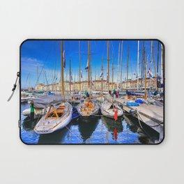 St Tropez Sails Laptop Sleeve