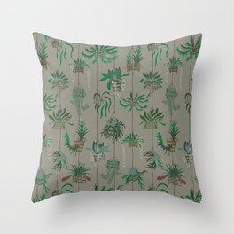 Vanda Basket Plants Ancient Blooms Throw Pillow