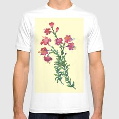 Summer Flowers MEDIUM White Mens Fitted Tee