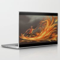 avatar Laptop & iPad Skins featuring Avatar Aang by Zack Coleman