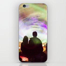 Laser show crowd iPhone Skin