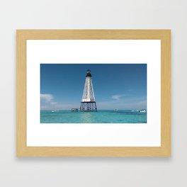 Isolated Lighthouse Framed Art Print
