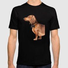 Elegant dachshund. LARGE Mens Fitted Tee Black