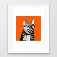 mr fox Framed Art Prints featuring Mr. Fox by yellow pony