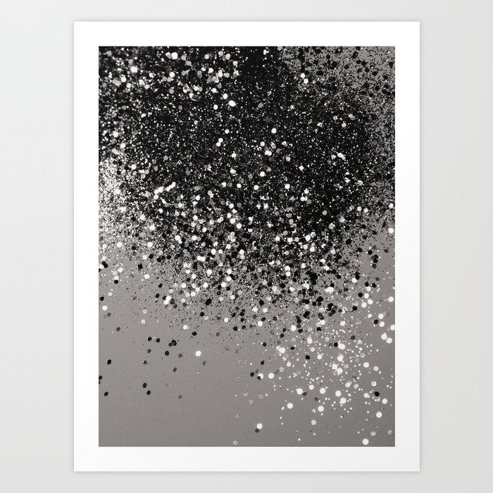 Silver Gray Glitter #1 #shiny #decor #art #society6 Kunstdrucke