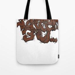 Walnut Stamp Graffiti  Tote Bag