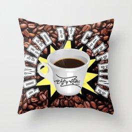 Powered by Caffeine! || Shut Up Kristen! Throw Pillow