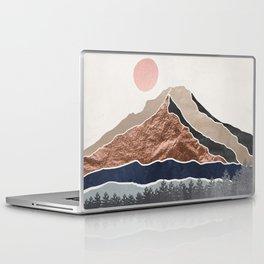 Mount Hood // Daylight Art Print Oregon Stratovolcano Rose Gold Silver Blue Cream Black Mountain Laptop & iPad Skin