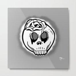 Worm Food (grey ghosted) Metal Print