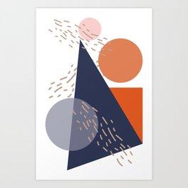 Floating minimal shapes Art Print
