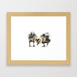 Goslings Heart Framed Art Print