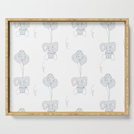 Elephants with Balloons Serving Tray