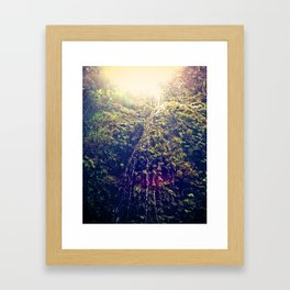water falling from sun Framed Art Print