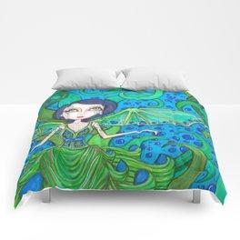 Blue Hair mermaid Comforters