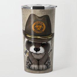 Baby Raccoon Zombie Hunter Travel Mug