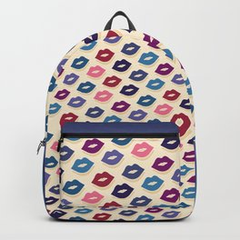 Retro Lips - Colorful Pattern Backpack